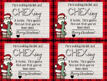 Christmas CHEX Mix Tag