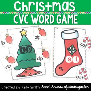 Christmas CVC Words!