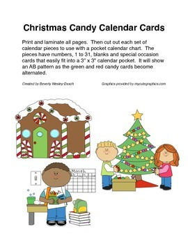 Christmas Candy Calendar Cards with an AB Pattern