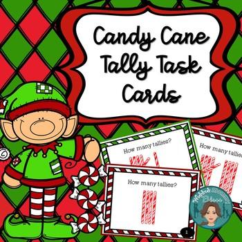 Christmas Candy Cane Tally Task Card