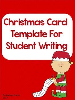 Christmas Card Writing Template