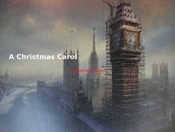Christmas Carol - Power Point - Adapted book - picture sup