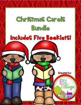 Christmas Carols BUNDLE {Making Illustrated Booklets}