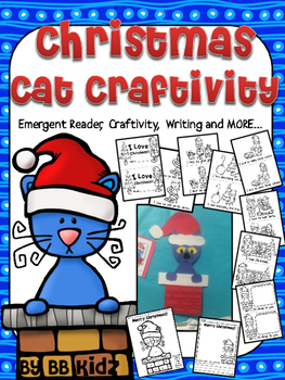 Christmas Cat Chimney Craftivity {booklet, color by number