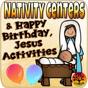Christmas Centers Religious Centers Nativity Math Literacy