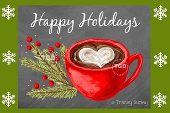 Christmas Chalkboard Holiday Card or Sign Art Printable Tr