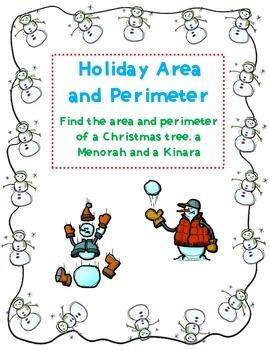 Christmas, Chanukah and Kwanzaa: Area and Perimeter