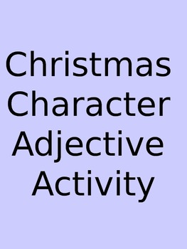 Christmas Character Adjective Activity