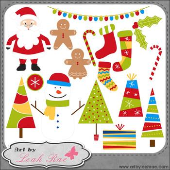 Christmas Cheer 1 - Art by Leah Rae Clip Art & Line Art /