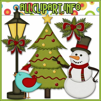 BUNDLED SET - Christmas Cheer Accents Clip Art & Digital S