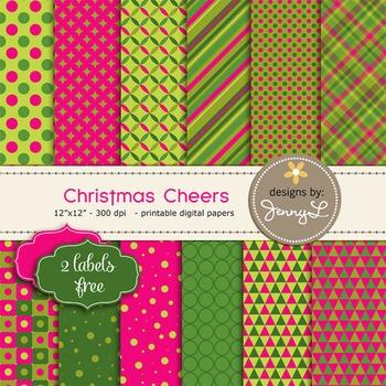Christmas Cheers Digital Paper