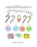 Christmas Chemistry Review Worksheet w/ Coloring fun for H