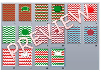 Christmas Chevron Pack - Backgrounds and Titles