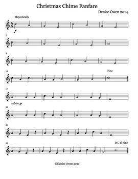 Christmas Chime Fanfare for Recorder