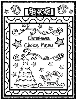 Christmas Choice Menu Board with Matching Holiday Organize
