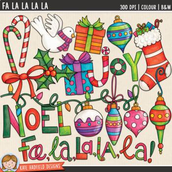 """Christmas Clip Art 2: """"Fa La La La La"""""""