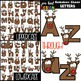 Christmas Clip Art BUNDLE- Reindeer Cheer Letters, Numbers