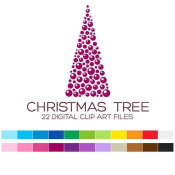 Christmas Clip Art / Christmas Tree Clip Art - A90003