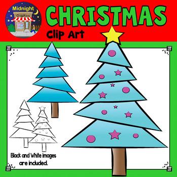 Christmas Clip Art - Christmas Tree - Turquoise
