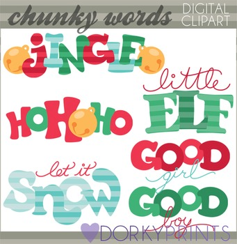 Christmas Clip Art - Chunky Christmas Sayings