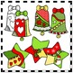 Christmas Clip Art - Doodle Bells and Stars with Frames an