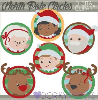 Christmas Clip Art - North Pole Circles
