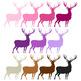 Christmas Clip Art / Reindeer Clip Art - A90006
