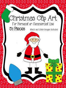 Christmas Clip Art Value Set (51 Pieces in All) Commercial