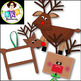 Christmas Clip art ● Reindeer Crafts ● Graphics ● Products