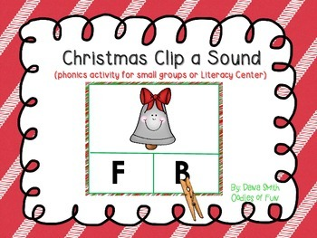 Christmas Clip the Letter Sound (activity for small groups