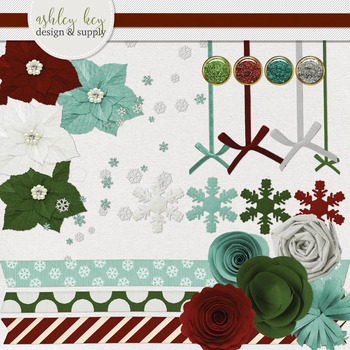 Christmas Clipart Embellishments, Holiday Stickers, Clipar