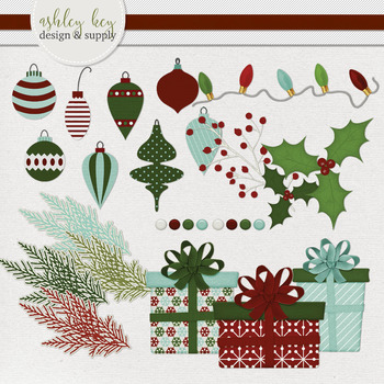 Christmas Clipart Pack, Holiday Stickers, Clipart for Sellers
