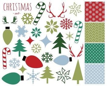 Christmas Clipart Set, Christmas Set #169