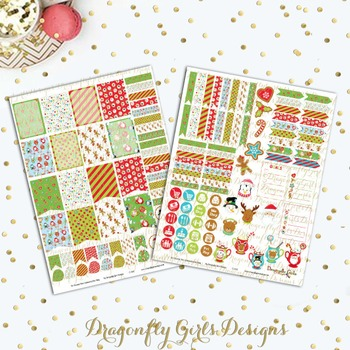 Christmas Cocoa Printable Planner Stickers Mini Kit