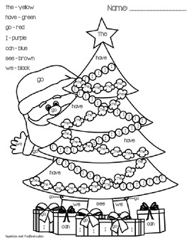 Printables Color By Sight Word Worksheets christmas color by sight word freebie cupcakes and freebie