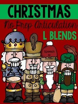 Christmas Articulation Activities: L Blends