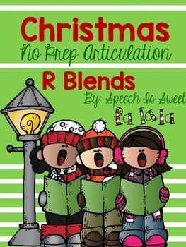 Christmas Articulation Activities: R Blends