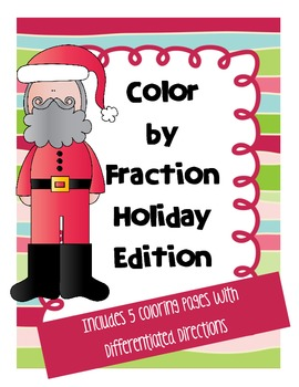 Christmas Color by Fraction Bundle (Common Core Fractions)