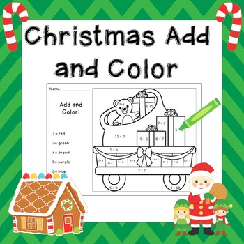Christmas Color by Number / Christmas Add and Color