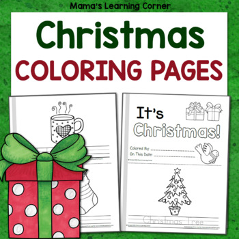 Christmas Coloring Pages - Create a Mini-book!