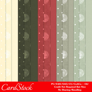 Christmas Colors 1 Scrapbook Size Digital Papers Package 1