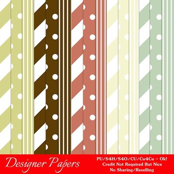 Christmas Colors 10 Scrapbook Size Digital Papers Package 3