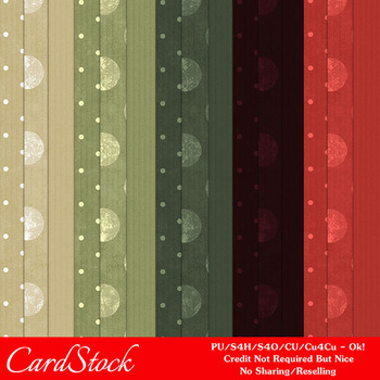 Christmas Colors 2 Scrapbook Size Digital Papers Package 1