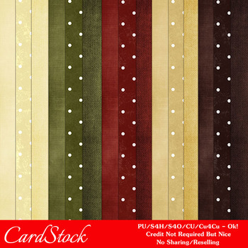 Christmas Colors 4 Scrapbook Size Digital Papers Package 1