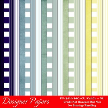 Christmas Colors 7 Scrapbook Size Digital Papers Package 3