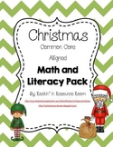 Christmas Common Core Aligned Math and Literacy Pack (Kinder)
