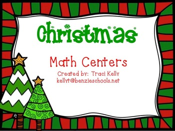 Christmas Common Core Math Centers