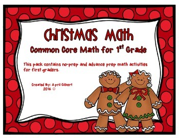 Christmas Common Core Math Practice for First Graders!