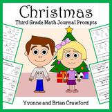 Christmas Math Journal Prompts (3rd grade)