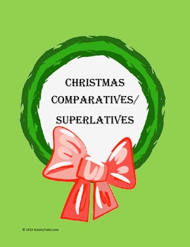 Christmas Comparatives and Superlatives FREEBIE!
